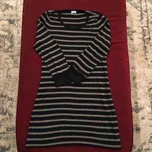 Splendid shirt, 3/4 sleeve, silver and black, S